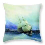 Trebizond From The Sea 1875 61h94 Ivan Konstantinovich Aivazovsky Throw Pillow