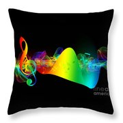 Treble Clef In Motion Throw Pillow