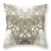 Tree 20 Hybrid 1 Throw Pillow