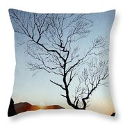 Tree Above Crummock Water Throw Pillow