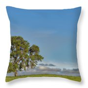 Tree Above The Clouds Throw Pillow