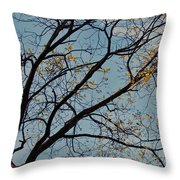 Tree Against The Sky Throw Pillow