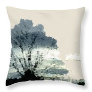 Tree Along The Way Throw Pillow