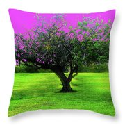 Tree And Color Throw Pillow