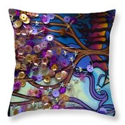 Tree And Face Of Beauty Throw Pillow