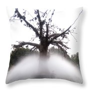 Tree And Fountain Throw Pillow