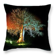 Tree And Moon Throw Pillow