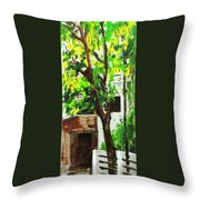 Tree And Shade Throw Pillow