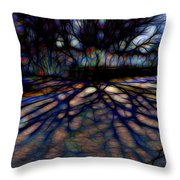 Tree And Shadow Throw Pillow