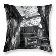 Tree And The Barn Throw Pillow