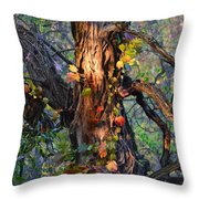 Tree And Vine Throw Pillow