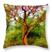 Tree At Kew Gardens Throw Pillow