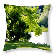 Tree At Riverside Park 3 Throw Pillow
