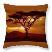 Tree At Sunset. L B Throw Pillow
