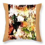 Tree Bark 1 Abstract Throw Pillow