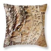 Tree Bark 9 Throw Pillow