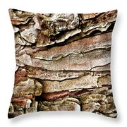 Tree Bark Abstract Throw Pillow