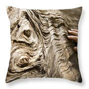 Tree Bark And Hand Throw Pillow