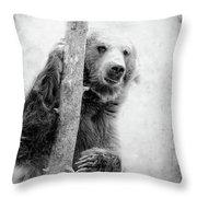 Tree Bear Throw Pillow