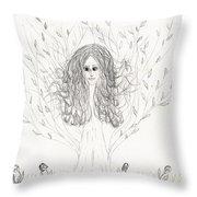 Tree Beauty Throw Pillow