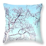 Tree Branches Reaching For Heaven 2 Throw Pillow