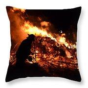 Tree Burning Throw Pillow