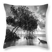 Tree By The Lake Throw Pillow