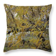 Tree By The Water Throw Pillow