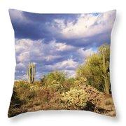 Tree Cactus Throw Pillow