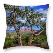 Tree Captures Sedona Throw Pillow