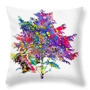 Tree-colorful Throw Pillow