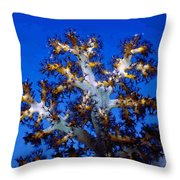 Tree Coral Throw Pillow
