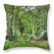 Tree Curves Two Throw Pillow