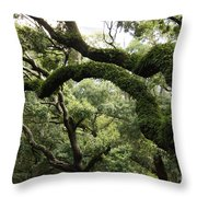 Tree Drama Throw Pillow
