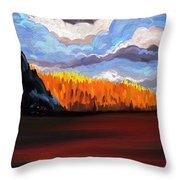 Tree Fall Camping Throw Pillow