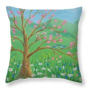 Tree For Two Throw Pillow