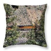 Tree Framed Engine Throw Pillow