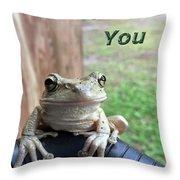 Tree Frog Thank You Throw Pillow