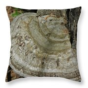 Tree Fungi Throw Pillow