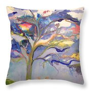 Ewe Is In The Tree Throw Pillow