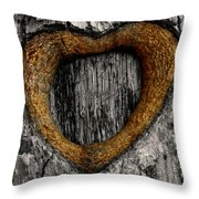 Tree Graffiti Heart Throw Pillow