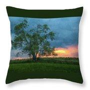 Tree Impression Throw Pillow