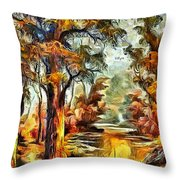 Tree Impression Throw Pillow