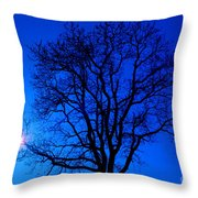 Tree In Blue Sky Throw Pillow