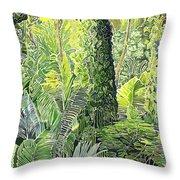 Tree In Garden Throw Pillow