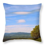 Tree In Landscape Throw Pillow