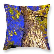 Tree In Motion Throw Pillow