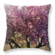 Tree In Pink Throw Pillow