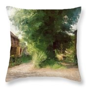 Tree In The Road Throw Pillow