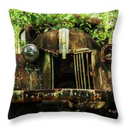Tree In Truck Throw Pillow